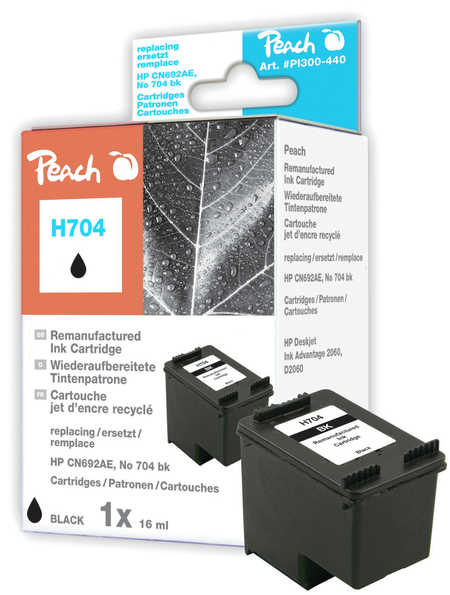 Peach Tête d'impression  noire, compatible avec ID-Fabricant: No. 704, CN692AE HP DeskJet Ink Advantage 2010