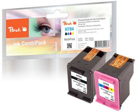 Peach  Multi Pack, compatible avec ID-Fabricant: No. 704 Series HP DeskJet Ink Advantage 2010
