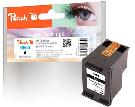 Peach Tête d'impression  noire, compatible avec ID-Fabricant: No. 650, CZ101AE HP DeskJet Ink Advantage 3546 e-All-in-One