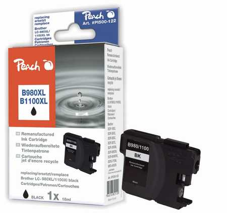 Peach  XL cartouche noire, compatible avec ID-Fabricant: LC-1100, LC-980 Brother DCP-163 C