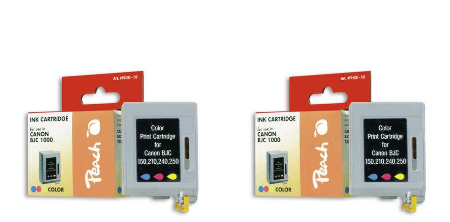 Peach  Twin Pack Print-head colour, compatible with ID-Fabricant: BC-05 c Apple Color Stylewriter 1500