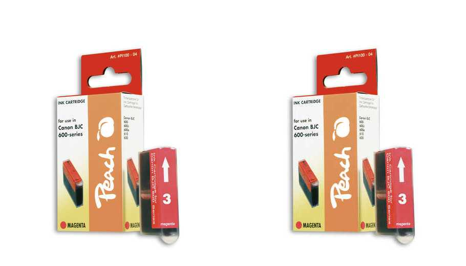 Peach  Twin Pack Ink Cartridge magenta, compatible with ID-Fabricant: BJI-201 m Apple Color Stylewriter PRO