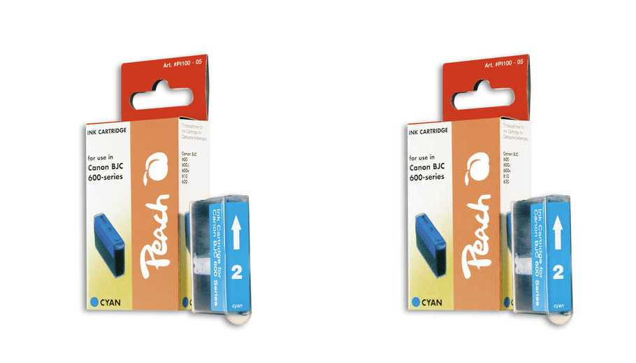 Peach  Twin Pack Ink Cartridge cyan, compatible with ID-Fabricant: BJI-201 c Apple Color Stylewriter PRO