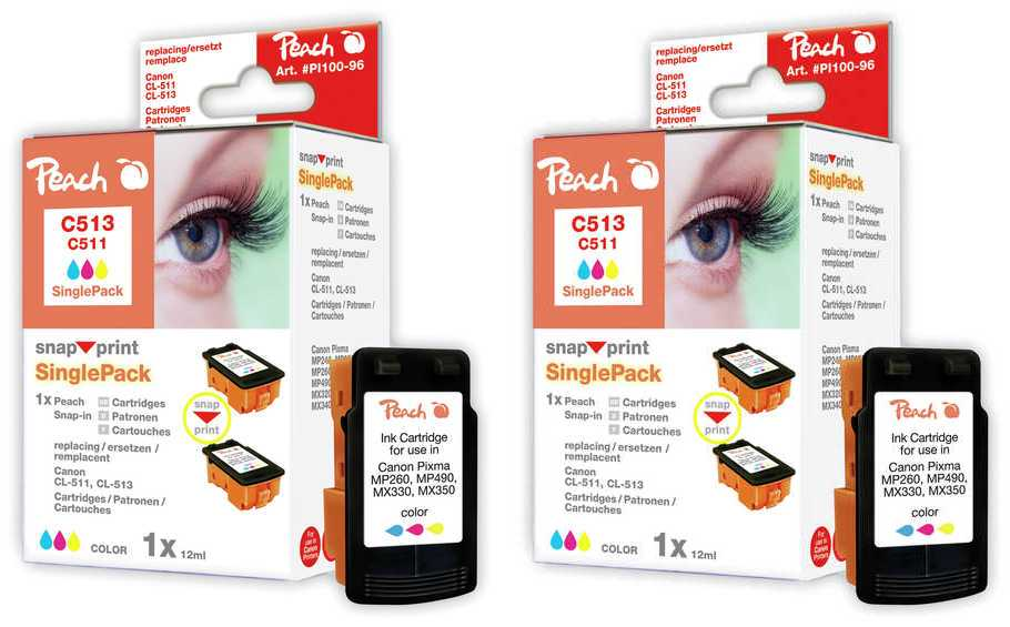 Peach  Twin Pack Ink Cartridge yellow, compatible with ID-Fabricant: BJI-201 y Apple Color Stylewriter PRO