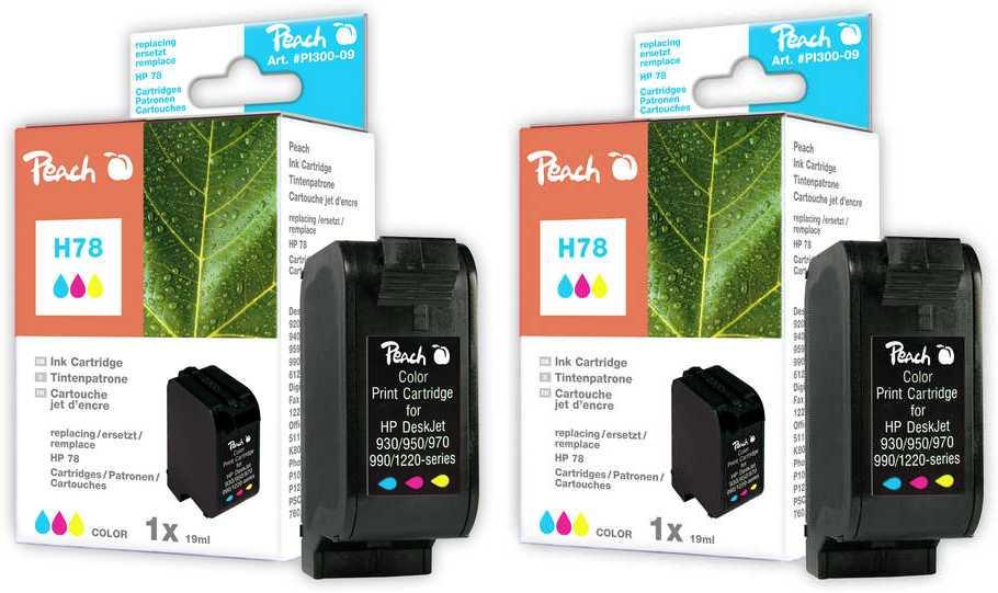 Peach  Double Pack tête d'impression couleur, compatible avec ID-Fabricant: No. 78, C6578D HP Digital Copier 310