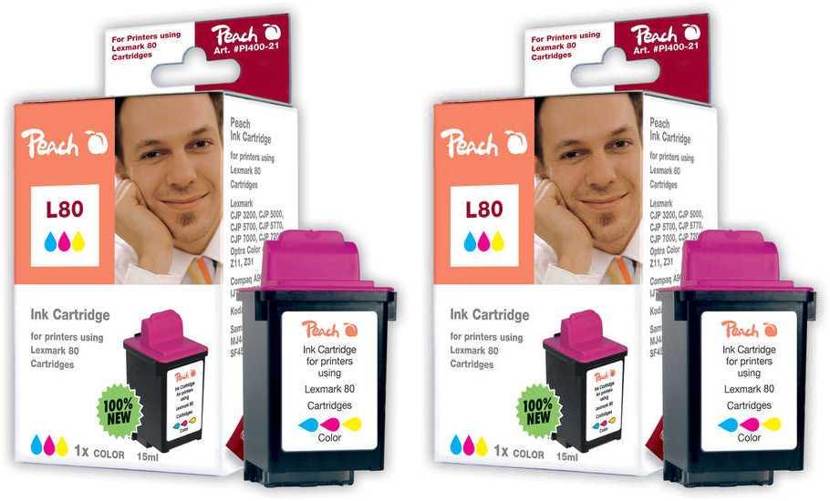 Peach  Twin Pack cartouche d'encre coleur, compatible Samsung Smartjet Color