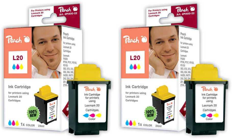 Peach  Double Pack tête d'impression couleur, compatible avec ID-Fabricant: 15M0120 Samsung SCX-1000
