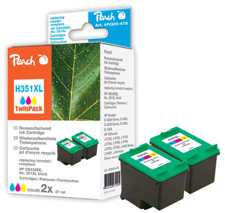 Peach  Twin Pack Print Heads colour, compatible ID-Fabricant: No. 351XL, CB338EE HP OfficeJet J 5780