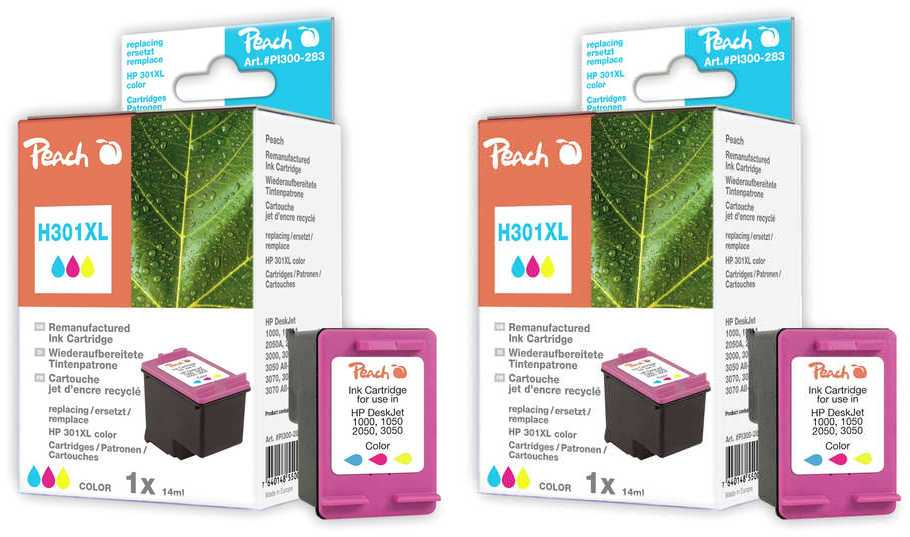 Peach  Twin Pack Print-head color, compatible with ID-Fabricant: No. 301XL, CH564EE HP DeskJet 2050