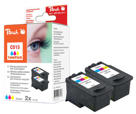 Peach  Twin Pack Print-head color, compatible with ID-Fabricant: CL-513 Canon Pixma MP 240