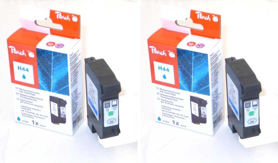 Peach  Twin Pack Print-head cyan, compatible with ID-Fabricant: No. 44, 51644CE HP DesignJet 350 C