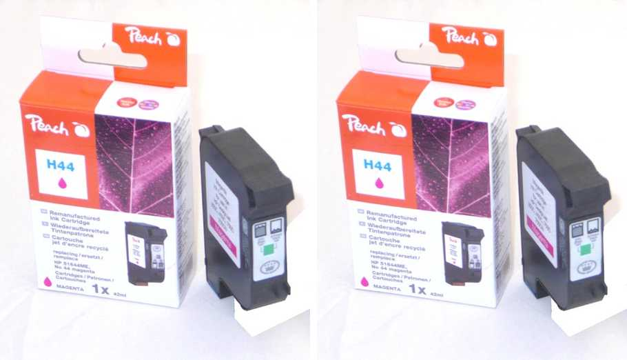 Peach  Twin Pack Print-head magenta, compatible with ID-Fabricant: No. 44, 51644ME HP DesignJet 350 C