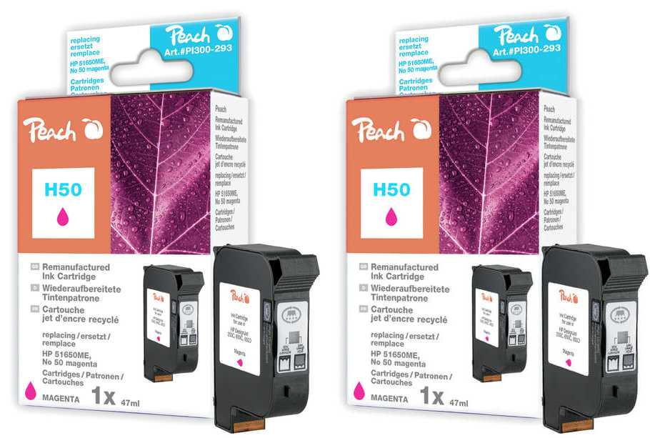 Peach  Twin Pack Print-head magenta, compatible with ID-Fabricant: No. 50, 51650ME HP DesignJet 250 C