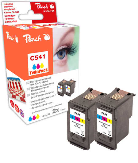 Peach  Twin Pack Print-head colour compatible with ID-Fabricant: CL-541 Canon Pixma MG 2250