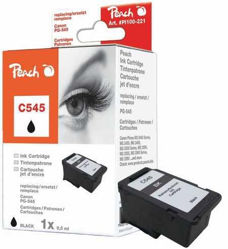 Peach  tête d'impression noire compatible avec ID-Fabricant: PG-545 Canon Pixma MG 2455