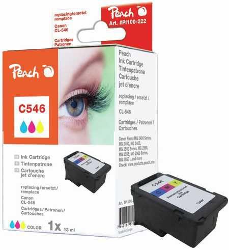 Peach  tête d'impression couleur compatible avec ID-Fabricant: CL-546 Canon Pixma MG 2455