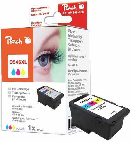 Peach  tête d'impression XL coleur compatible avec ID-Fabricant: CL-546XL Canon Pixma MG 2455