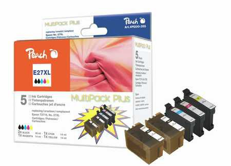 Peach  Multipack Plus compatible avec ID-Fabricant: No. 27XL Epson WorkForce WF-3620 WF