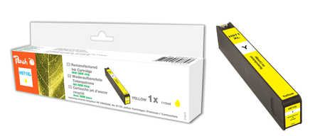 Peach  cartouche d'encre jaune HC compatible avec  ID-Fabricant: No. 971XL, CN628AE HP OfficeJet Pro X 451 dn