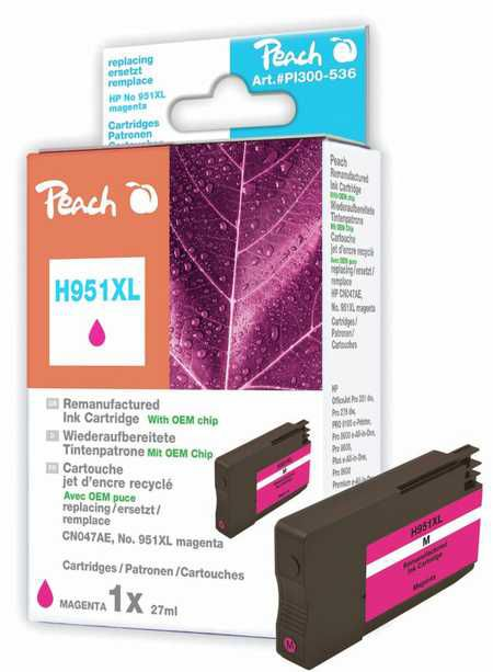 Peach  Ink Cartridge magenta HC compatible with ID-Fabricant: No. 951XL, CN047AE HP OfficeJet Pro 251 dw