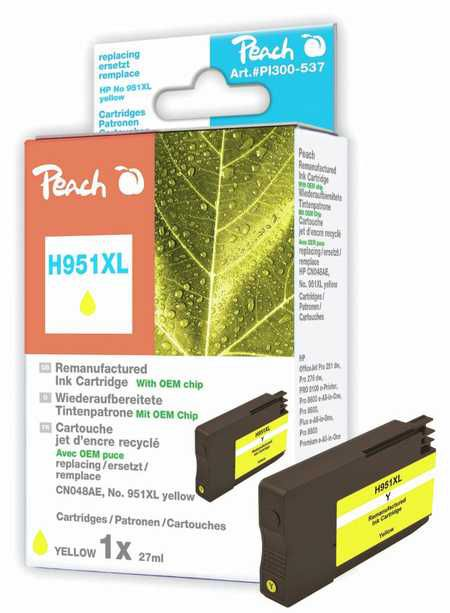 Peach  Ink Cartridge yellow HC compatible with ID-Fabricant: No. 951XL, CN048AE HP OfficeJet Pro 251 dw