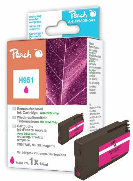 Peach  Ink Cartridge magenta compatible with ID-Fabricant: No. 951, CN051AE HP OfficeJet Pro 251 dw