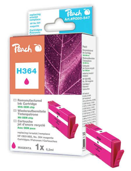 Peach  Ink Cartridge magenta compatible with ID-Fabricant: No. 364, CB319EE HP PhotoSmart Premium C 410 Series
