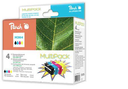 Peach Multipack  avec puce, compatible avec ID-Fabricant: No. 364 HP PhotoSmart Premium C 410 Series