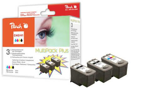 Peach  Multi Pack Plus, compatible with ID-Fabricant: PG-40, CL-41 Canon Pixma IP 1600