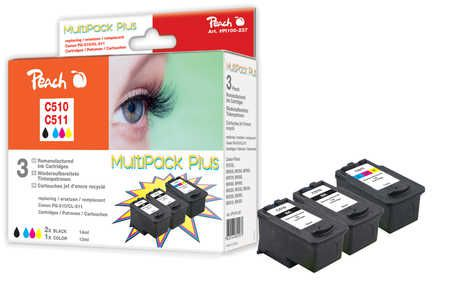Peach  Multi Pack Plus, compatible with ID-Fabricant: PG-510, CL-511 Canon Pixma MP 240