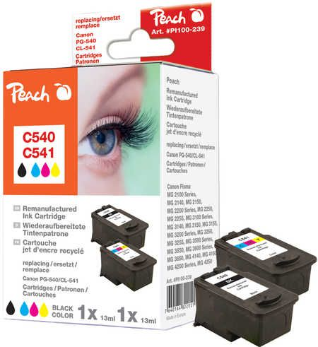 Peach  Combi Pack compatible with ID-Fabricant: PG-540, CL-541 Canon Pixma MG 2250