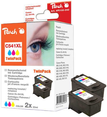 Peach  Twin Pack Print-head colour compatible with ID-Fabricant: CL-541XL Canon Pixma MG 2250