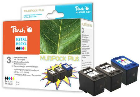 Peach  Multi Pack Plus, compatible with ID-Fabricant: No. 21XL, C9351AE, No. 22XL, C9352AE HP OfficeJet 4625