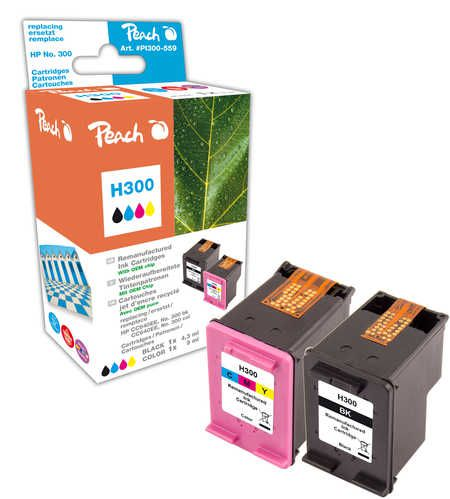 Peach  Multi Pack, compatible avec ID-Fabricant: No. 300, CC640EE, No. 300 color, CC643EE HP DeskJet F 4213