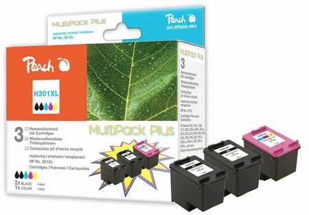 Peach  Multi Pack Plus, compatible with ID-Fabricant: No. 301XL, CH563EE, CH564EE HP DeskJet 2050