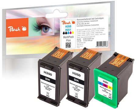 Peach  Multi Pack Plus, compatible with ID-Fabricant: No. 351, HP No. 350 HP OfficeJet J 5780