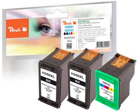 Peach  Multi Pack Plus, compatible with ID-Fabricant: No. 350XL black, CB336EE, No. 351XL color, CB338EE HP OfficeJet J 5780