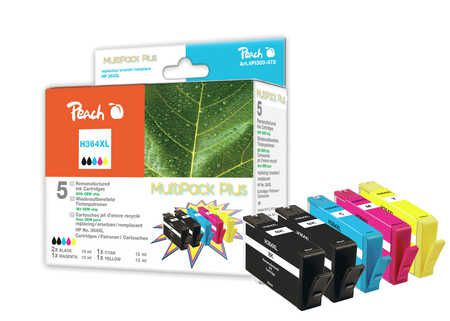 Peach  Multi Pack Plus with chip compatible with ID-Fabricant: No. 364XL HP PhotoSmart Premium C 410 Series