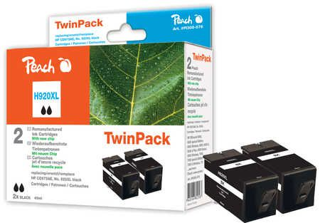 Peach  Twin Pack avec puce compatible avec ID-Fabricant: No. 920XL, CD975AE HP OfficeJet 6500 Wireless