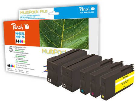 Peach  Combi Pack Plus compatible with ID-Fabricant: No. 950XL, No. 951XL HP OfficeJet Pro 251 dw