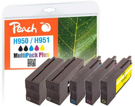 Peach  Combi Pack Plus compatible with ID-Fabricant: No. 950, No. 951 HP OfficeJet Pro 251 dw