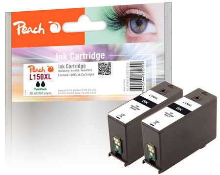 Peach  Twin Pack Ink Cartridge black, compatible with ID-Fabricant: No. 150XL Lexmark Interpret S 415