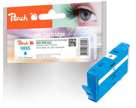 Peach  Ink Cartridge cyan compatible with ID-Fabricant: No. 655, CZ110AE HP DeskJet Ink Advantage 6525