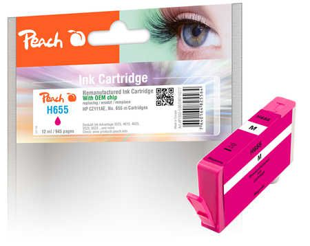 Peach  Ink Cartridge magenta compatible with ID-Fabricant: No. 655, CZ111AE HP DeskJet Ink Advantage 6525