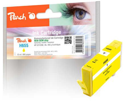Peach  Ink Cartridge yellow compatible with ID-Fabricant: No. 655, CZ112AE HP DeskJet Ink Advantage 6525