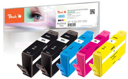 Peach  Multipack Plus avec puce compatible avec HP DeskJet Ink Advantage 4625