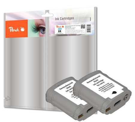 Peach  Twin Pack cartouche d'encre noire compatible avec ID-Fabricant: No. 88, C9385AE HP OfficeJet Pro K 550