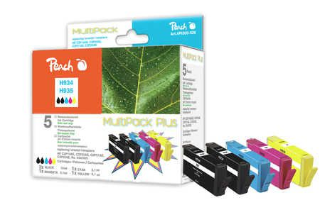 Peach  Combi Pack Plus compatible with ID-Fabricant: No. 934, No. 935 HP OfficeJet Pro 6230