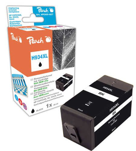 Peach  Ink Cartridge black HC compatible with ID-Fabricant: No. 934XL, C2P23AE HP OfficeJet Pro 6230