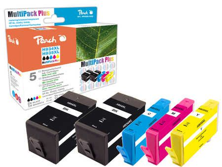 Peach  Combi Pack Plus compatible with ID-Fabricant: No. 934XL, No. 935XL HP OfficeJet Pro 6230